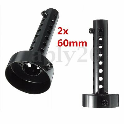 2x Universal Motorcycle Exhaust Can Muffler Insert Baffle Silencer 60mm Black