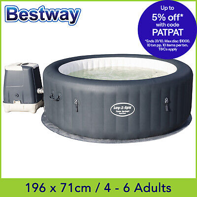 Bestway Lay Z Spa PALM SPRINGS HydroJet, Inflatable Portable Outdoor Spa Hot Tub