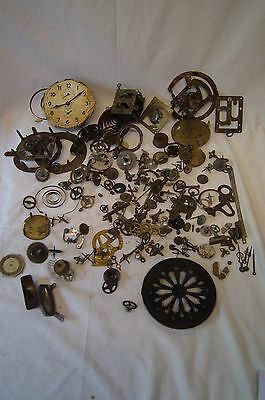 vintage clock parts spares and repair mantle cogs springs case movement