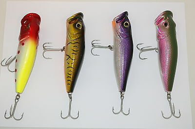 Assorted Lure Packs 4x Topwater Popper Hardbody Lures AE4829