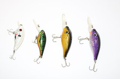 Assorted Lure Packs 4x Shallow Diver Chubby Hardbody Lures AE4415