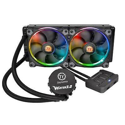 Thermaltake Water 3.0 Riing RGB 240mm Intel AMD Desktop Liquid CPU Cooler