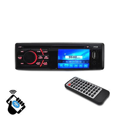"BT In-Dash Receiver Headunit Media Player with 3"" LCD Monitor Display Screen, C"