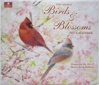 2017 Legacy Wall Calendar Birds & Blossoms by Sherri Baldwin Fits Timber Frame