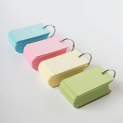 Loose-leaf Blank Kraft Paper 100 Pages Notepad Word Study Card Portable Memo Pad