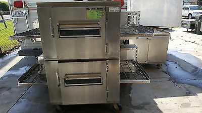 "Affordable Working Lincoln 1240 Conveyor Pizza Oven with a 32"" wide cook belt."