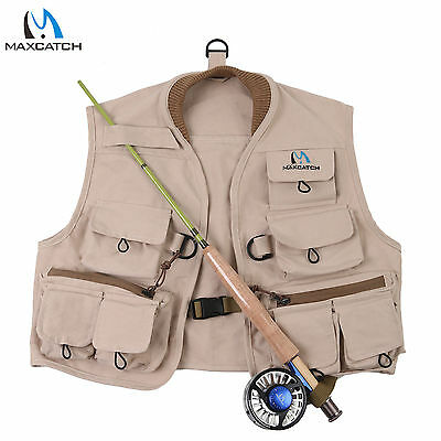 Youth Vest Pack 100% cotton Khaki Jacket Children Fly Vest Outdoor Fly Fishing