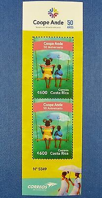 Costa Rica 2015 Coope Ande Kinder Bildung Children Education Block ** MNH