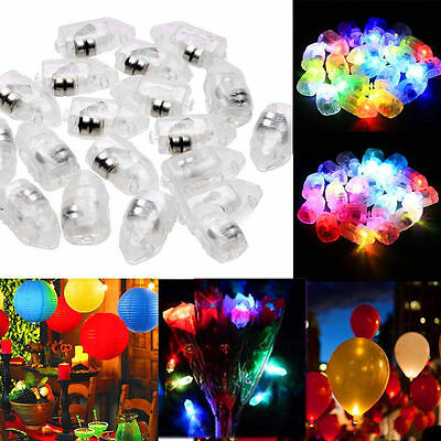 100pcs LED Balloon Lamp Paper Lantern For Christmas Wedding Party Decor Light RT