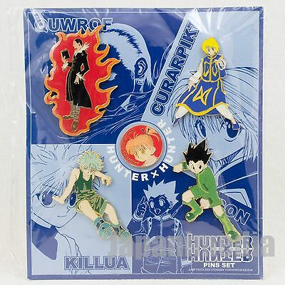 RARE! HUNTER x HUNTER Pins 5pc Set Jump Festa 2003 Gon Killua Curarpikt Kuroro