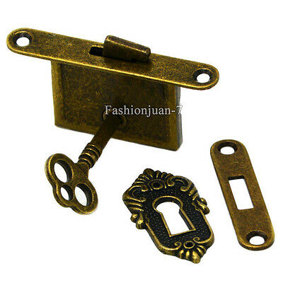 4PCS Retro Antique Drawer Cupboard Counter Cabinet Locks Classic Furniture Locks