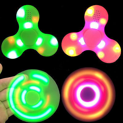 LED light tri-Spinner Fidget Bluetooth Speaker EDC Spielzeug ADD ADHD Adults