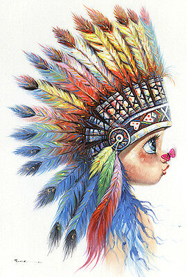 New Indian Girl Canvas Print Art Painting Wall Home Decor 90x120cm