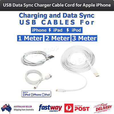 USB Data Sync Charger Cable Cord for Apple iPhone 6S 6 Plus 5 5S 5C 7 Plus iPod