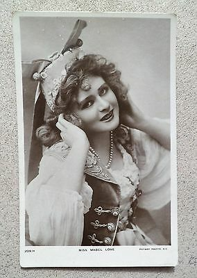 Mabel Love Antique Real Photo Postcard Edwardian Theatre Stage Actress Dancer