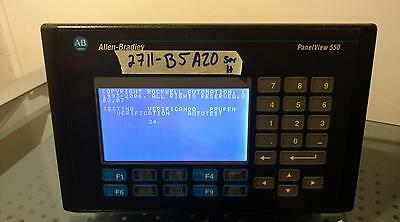 Allen Bradley Panelview 550 2711-B5A20 Ser H FRN 4.46 USED WORKING CONDITION