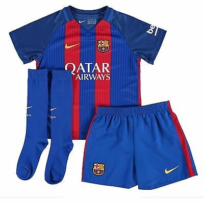 Barcelona Kids Home Football Kit 2016-17 with a Fault Size XL Boys