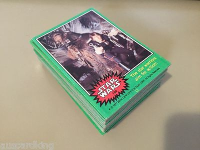 Star Wars - Series 4 (GREEN) - Complete Trading Card Set (66) 1977 - EX+/NM