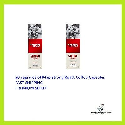 20 Capsules Map Coffee Strong Roast Caffitaly System