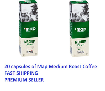 20 Capsules Map Coffee Medium Roast Caffitaly System