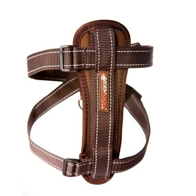 Ezy-Dog High Quality Chestplate Harness With Free Seatbelt Attachment (Choco)
