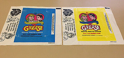 Grease S1 S2 - 2x Wax Pack Card Wrappers SET - 1978 TOPPS - NO TEARS !!
