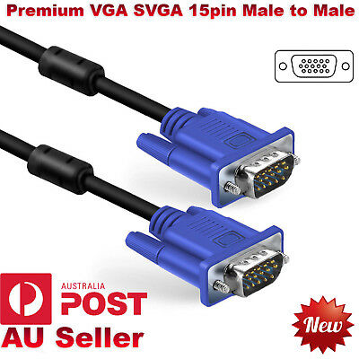 VGA SVGA 15Pin Monitor PC Cable Male to Male Cord For LCD Laptop HDTV Plasma TFT