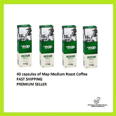 40 Capsules Map Coffee Medium Roast Caffitaly System