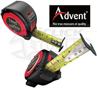 Advent 5m Metric Only Dual Vice Versa Pocket Work Tape Measure UK - Double Sided