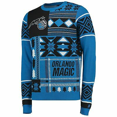 Adults Medium Orlando Magic Patches UGLY Sweater M19