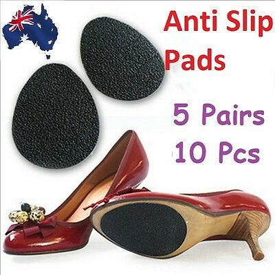 10 x Self Adhesive Non Slip Shoe Sole Grip Pads High Heels Slippery Soles Care #