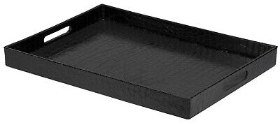 Home Basics NEW Serving Tray with Handle in Black or Silver - ST44767 ST44768