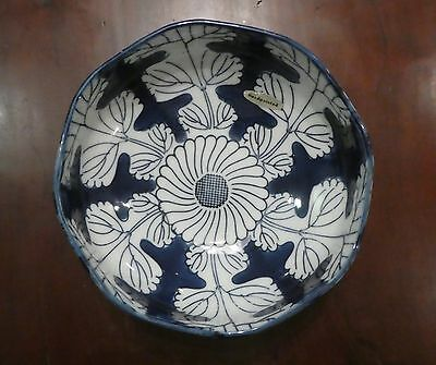Vintage BLUE & WHITE Japanese bowl HAND PAINTED old