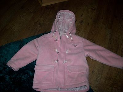 Girls Fleece Hooded Thick Coat Frostbite Age 2-3