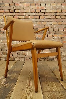 Vintage Armchair 1950s Cocktail Chair Wood Vinyl covering 50s Rockabilly Mid