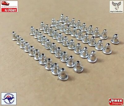 20/50 Pcs Metal Bullet Style Earring Back Stoppers / Findings Ear Nuts [A4Q]