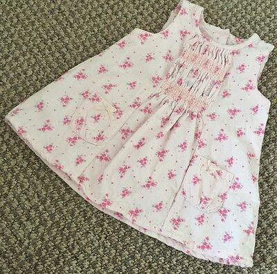 Baby Girls Pink Floral Cord Dress from Next - 0-3 Months