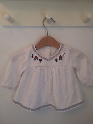 M&S Baby Girl White Blouse 0-3 Months