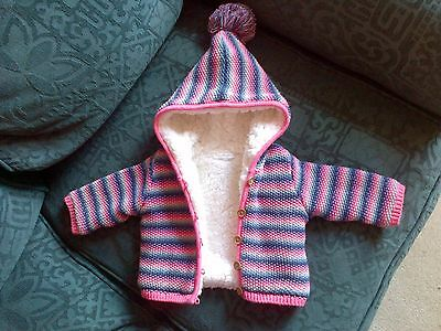 Next Baby Stripey Hooded Cardigan 3-6 Months