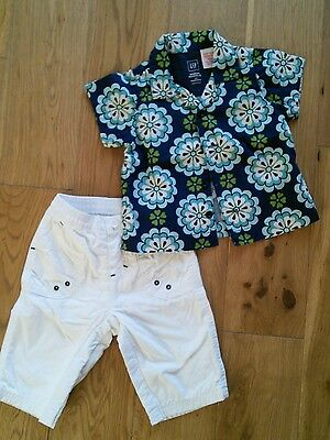Gap baby boys shirt and trousers size 3-6 months