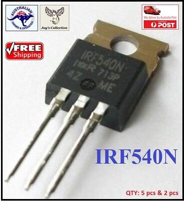 2 & 5 Pcs IRF540N Transistor N channel TO-220 IRF540 MOS [A4O]