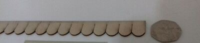 Dolls House 1:24 scale Plywood Shingle Roofing Tiles Strip Pack of 10
