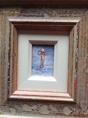 miniture oil on board painting original by Mary Carter