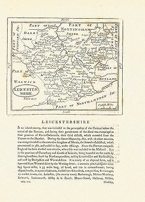 An antique map of LEICESTERSHIRE,  c 1840 by J. Archer