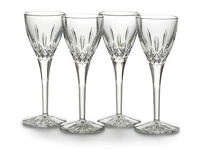 Set of 4 Waterford Crystal Lismore Cordial Stemware Glasses *New in Box*