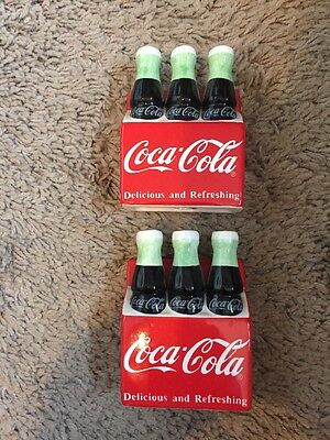 Coca Cola Co.  6 Pack Bottles. Salt And Pepper Shakers. Rare
