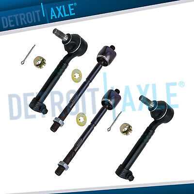 4 Inner and Outer Tie Rod End Links for Toyota Camry Brand New Set of All