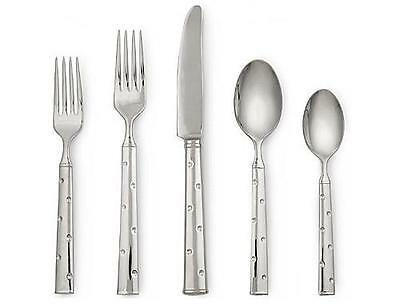 Kate Spade Larabee Dot Flatware 5 piece Stainless Place Setting *New in Box*