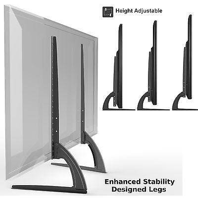 Universal Table Top TV Stand Legs for Vizio E320VL, Height Adjustable