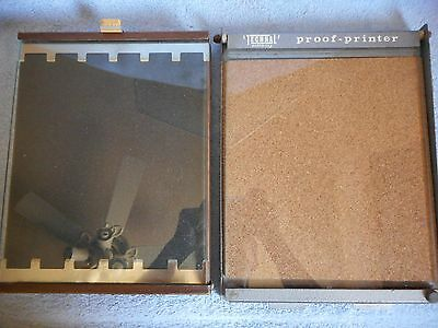 Vintage Technal Proof Printer Lot of TWO 8X10 Darkroom Photography Heavy Duty